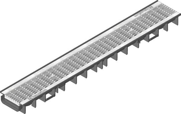 کانال پیش ساخته آب مدل ۴۱۲۲۴ با درپوش ( گریتینگ ) مش گالوانیزه