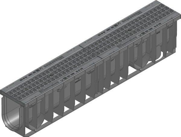 کانال پیش ساخته آب مدل ۴۷۰۳۳ با درپوش ( گریتینگ ) پلی آمید