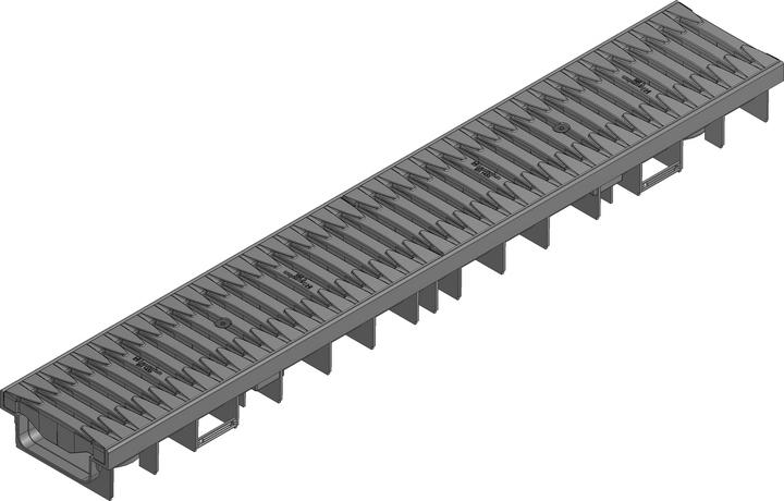 کانال پیش ساخته آب مدل ۴۷۰۶۳ با درپوش ( گریتینگ ) پلی آمید