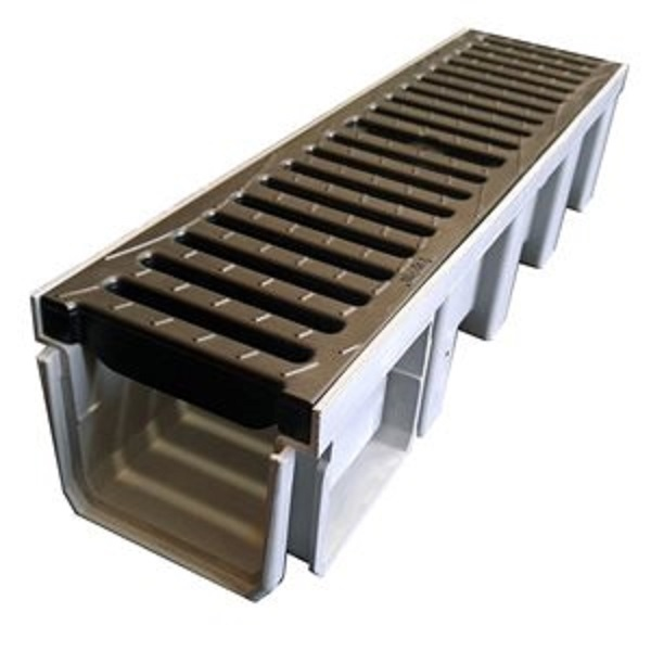 کانال پیش ساخته آب مدل DR100CN با درپوش ( گریتینگ ) پلی آمید