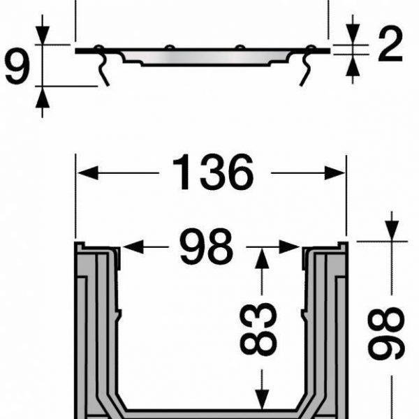 کانال پیش ساخته آب مدل CAL10BF