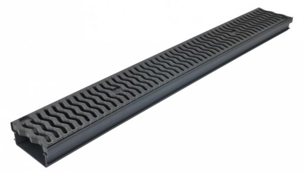 کانال پیش ساخته آب مدل CAB131+GDR10AHPP با درپوش ( گریتینگ ) پلی پروپیلن