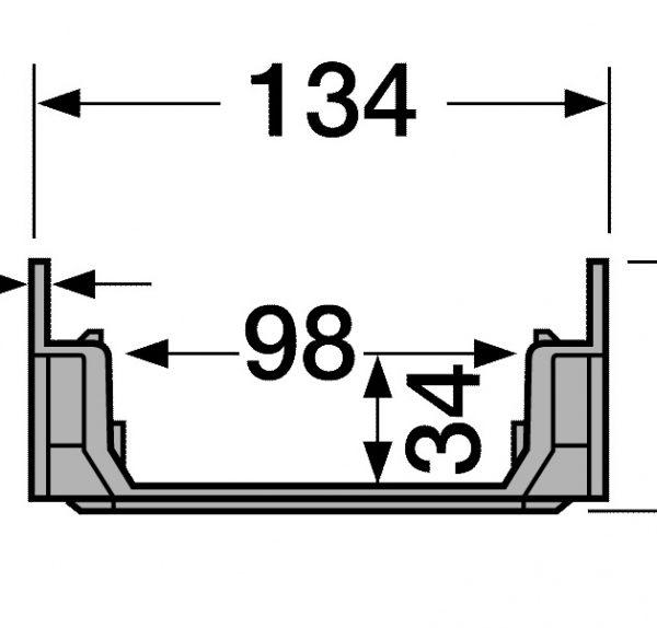 کانال پیش ساخته آب مدل CAB773+GR77 با درپوش ( گریتینگ ) پی وی سی